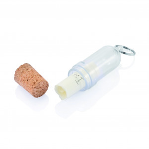 Message in a bottle keyring