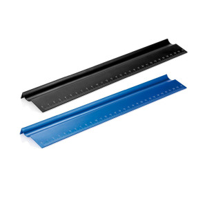 Ruler with pen holder