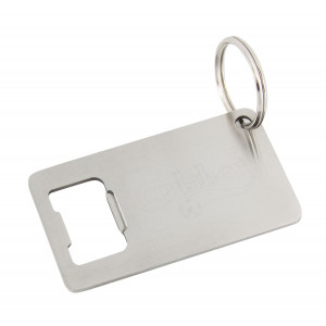 Stainless steel bottle opener keyring