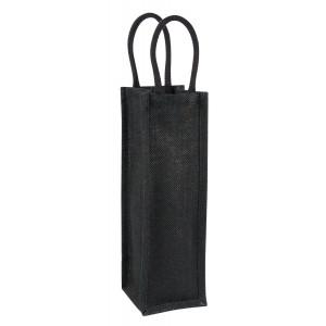 Jute wine bag - single