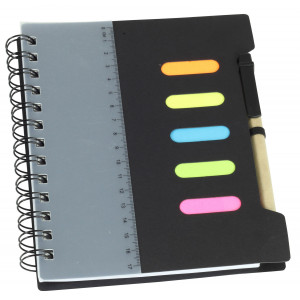 Large Notebook with Pen & Ruler