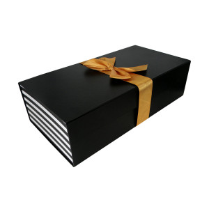 Rectangular Flat Pack Gift Box with Ribbon