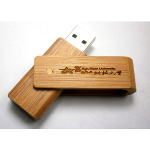 Bamboo timber swivel USB