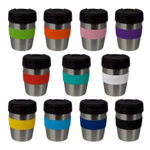 8oz/235ml Stainless Steel Karma Kup Plastic Flip Lid