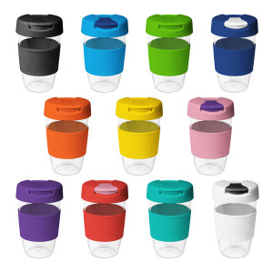 16oz/535ml Clear Plastic Karma Kup with Plastic Flip Lid