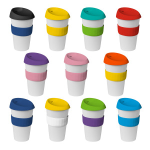 16oz/535ml Plastic Karma Kup Silicon lid