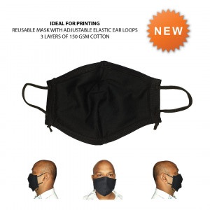 Reusable Adjustable 3 Layer Cotton Mask