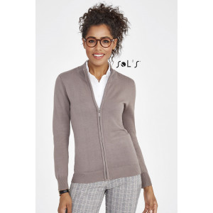 GORDON WOMEN'S ZIPPED KNITTED CARDIGAN