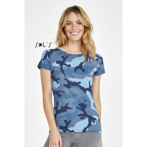 CAMO WOMEN'S - ROUND COLLAR T-SHIRT