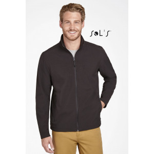 RACE MEN'S SOFT SHELL ZIP JACKET