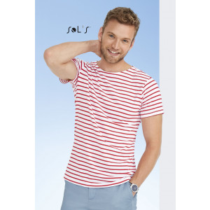 MILES MEN'S ROUND NECK STRIPED T-SHIRT