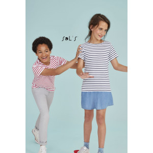 MILES KIDS' ROUND NECK STRIPED T-SHIRT