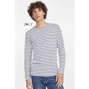 MARINE MEN'S LONG SLEEVE STRIPED T-SHIRT
