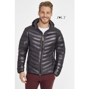 RAY MEN'S LIGHT HOODED DOWN JACKET