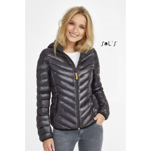 RAY WOMEN'S LIGHT HOODED DOWN JACKET