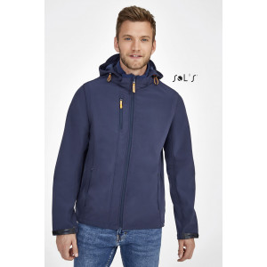 TRANSFORMER SOFTSHELL JACKET WITH REMOVABLE HOOD AND SLEEVES