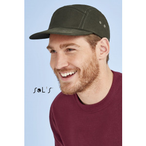 PARKER 5-PANEL SOLID-COLOUR CAP