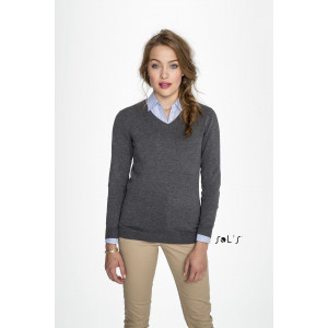 GLORY WOMEN'S V-NECK SWEATER
