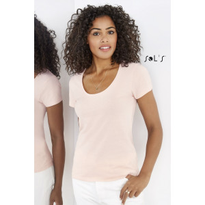 METROPOLITAN WOMEN'S LOW-CUT ROUND NECK T-SHIRT