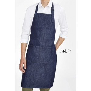 GRANT DENIM BIB APRON WITH POCKET