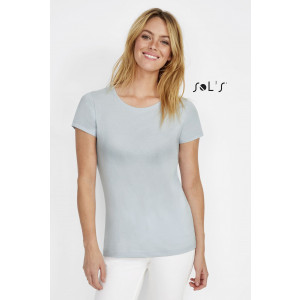 MARTIN WOMEN'S ROUND-NECK FITTED JERSEY T-SHIRT