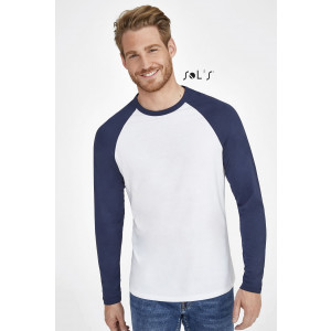 FUNKY LSL MEN'S TWO-COLOUR T-SHIRT WITH LONG RAGLAN SLEEVES