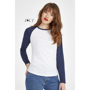 MILKY LSL WOMEN'S TWO-COLOUR T-SHIRT WITH LONG RAGLAN SLEEVES