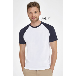 FUNKY MEN'S TWO COLOUR RAGLAN SLEEVE T-SHIRT