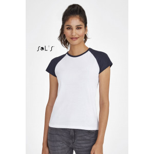 MILKY WOMEN'S TWO COLOUR RAGLAN SLEEVE T-SHIRT