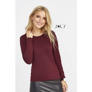 MAJESTIC WOMEN'S ROUND NECK LONG SLEEVE T-SHIRT