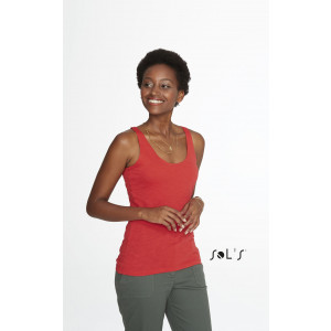 ST GERMAIN WOMEN'S SLUB RACER BACK TANK TOP