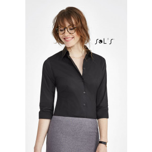 EFFECT 3/4 SLEEVE STRETCH WOMEN'S SHIRT