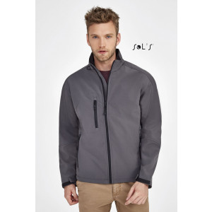 RELAX MEN'S SOFT SHELL ZIPPED JACKET
