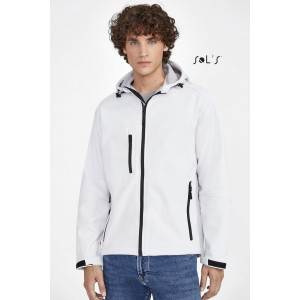 REPLAY MEN'S HOODED SOFTSHELL