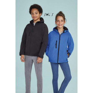 REPLAY KIDS HOODED SOFTSHELL