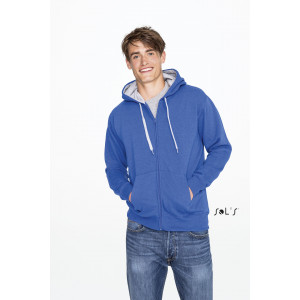 SOUL MEN'S CONTRASTED JACKET WITH LINED HOOD