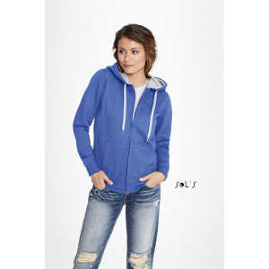 SOUL WOMEN'S CONTRASTED JACKET WITH LINED HOOD