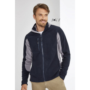 NORDIC MEN'S TWO-COLOUR ZIPPED FLEECE JACKET
